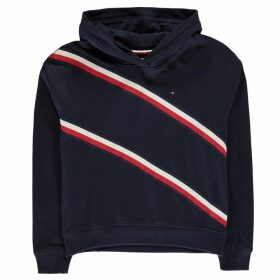 Tommy Hilfiger Knit Tape Over The Top Hoodie - Black Iris