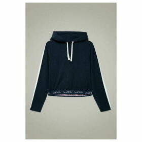 Jack Wills Bayswater Side Stripe Popover Hoodie - Blue