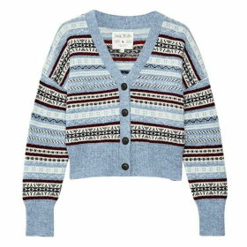 Jack Wills Halston Fairisle Cardigan - Blue