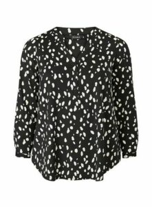 Black Printed Jersey Shirt, Black