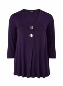 Purple Button Detail Top, Purple
