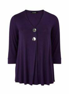 Purple Button Detail Top, Purple