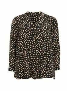 Black Spot Print Shirt, Black