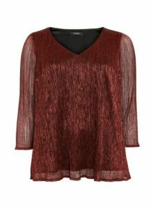 Red Sparkle Sequin Detail Top, Red