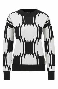 Relaxed-fit sweater with abstract pattern