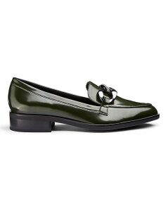 Flexi Sole Chain Trim Loafers E Fit