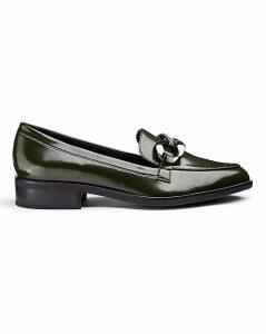 Flexi Sole Chain Trim Loafers E Fit
