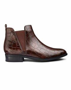 Flexi Sole Croc Print Boots EEE Fit