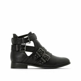 Studded Multi-Strap Ankle Boots
