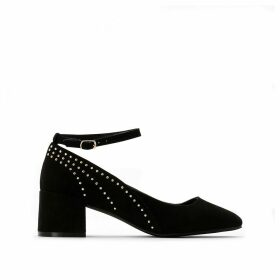 Heeled Ballet Pumps with Stud Details