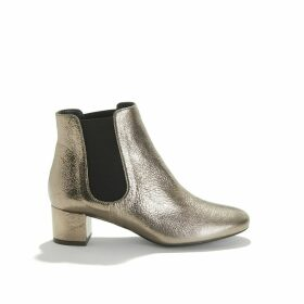 Golden Leather Boots