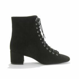Velvet Suede Heeled Boots