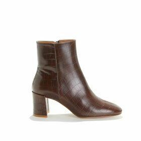 Claudette Mock Croc Heeled Boots