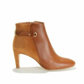 ARLETTE CAFE Leather and Suede Heeled Boots