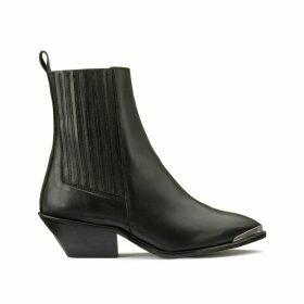 Boum Leather Santiag Boots