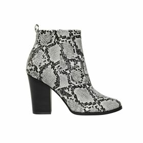 Blue Snake Heeled Boots