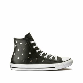 Chuck Taylor All Star Hi Leather Trainers with Studs