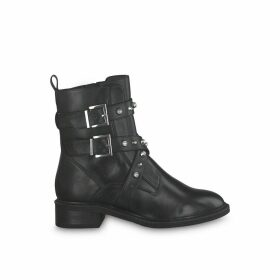 Manisa Leather Buckle Boots