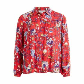 Long-Sleeved Floral Print Shirt