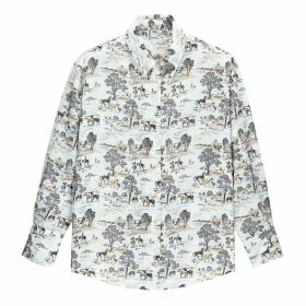 Cowboy Western Printed Shirt with Long Sleeves