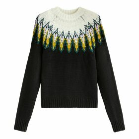 Crew Neck Jacquard Jumper