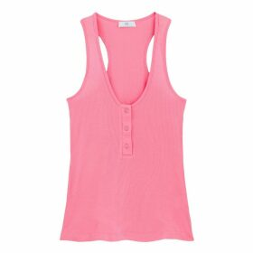Tank Top Buttoned at Front
