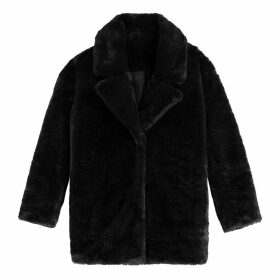 Faux Fur Coat with Pockets