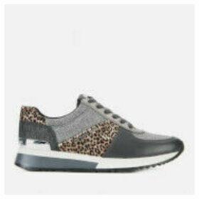 MICHAEL MICHAEL KORS Women's Allie Running Style Trainers - Black/Silver - UK 8