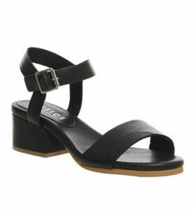 Office Whirlwind Block Heel Sandals BLACK LEATHER