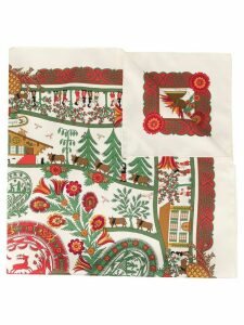 Hermès Pre-Owned silk Decoupage Carre scarf - White