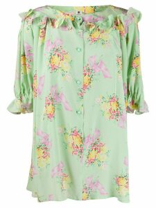 Emanuel Ungaro Pre-Owned FLORAL TOP 80S - Green