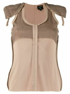 Jean Paul Gaultier Pre-Owned 2000s shoulder pads tank top - NEUTRALS