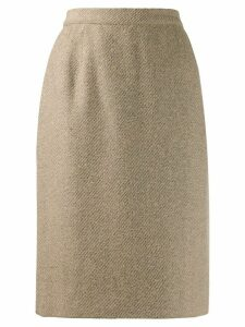 Valentino Pre-Owned 1980s woven pencil skirt - Brown