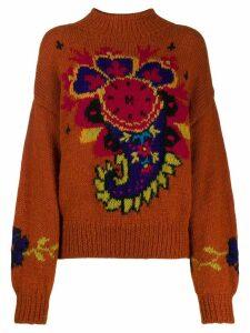 A.N.G.E.L.O. Vintage Cult 1980s Byblos' paisley intarsia jumper -