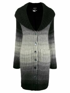Jean Paul Gaultier Pre-Owned 2000s degradé knitted cardigan - Black