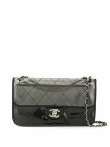 Chanel Pre-Owned Double chain shoulder bag - Black