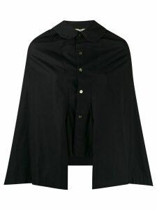 Comme Des Garçons Pre-Owned 1995 buttoned poncho shirt - Black