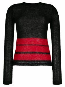 Jean Paul Gaultier Pre-Owned 1990s striped jumper - Black