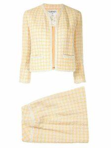 Chanel Pre-Owned 1994's Tweed setup jacket skirt - ORANGE