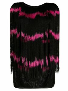 Jean Paul Gaultier Pre-Owned 1985 frayed striped vest - Black