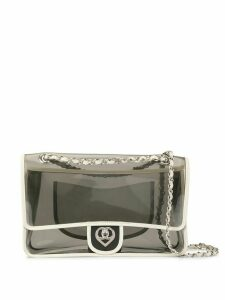 Chanel Pre-Owned Double chain shoulder bag - White