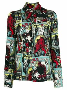 Jean Paul Gaultier Pre-Owned 1995 cartoon print shirt - Black