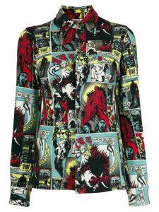 Jean Paul Gaultier Pre-Owned 1995 cartoon print shirt - Black