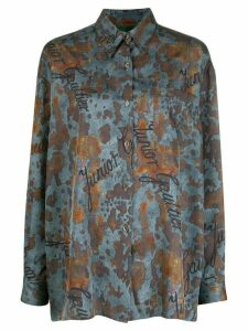 Jean Paul Gaultier Pre-Owned 1980s rust print shirt - Blue