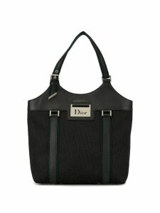 Christian Dior pre-owned Street Chic Trotter pattern tote - Black