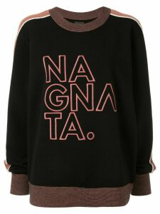 Nagnata embroidered logo jumper - Black