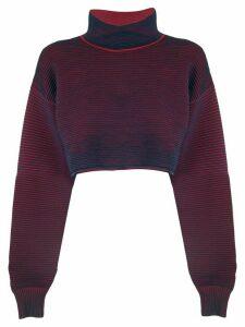 Nagnata cropped rib sweater - Blue