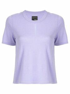 Nagnata front slit T-shirt - PURPLE