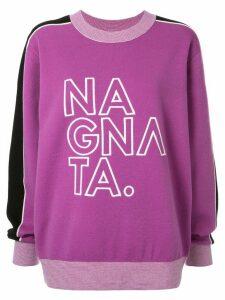 Nagnata embroidered logo jumper - PURPLE