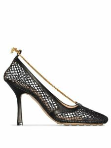 Bottega Veneta mesh 90mm pumps - Black